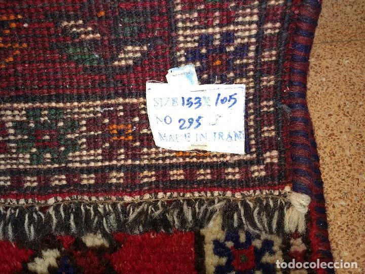 Antigüedades: Alfombra Persa Irán. Hamedan. Lana 100%. 153X105 cm - Foto 4 - 168630794
