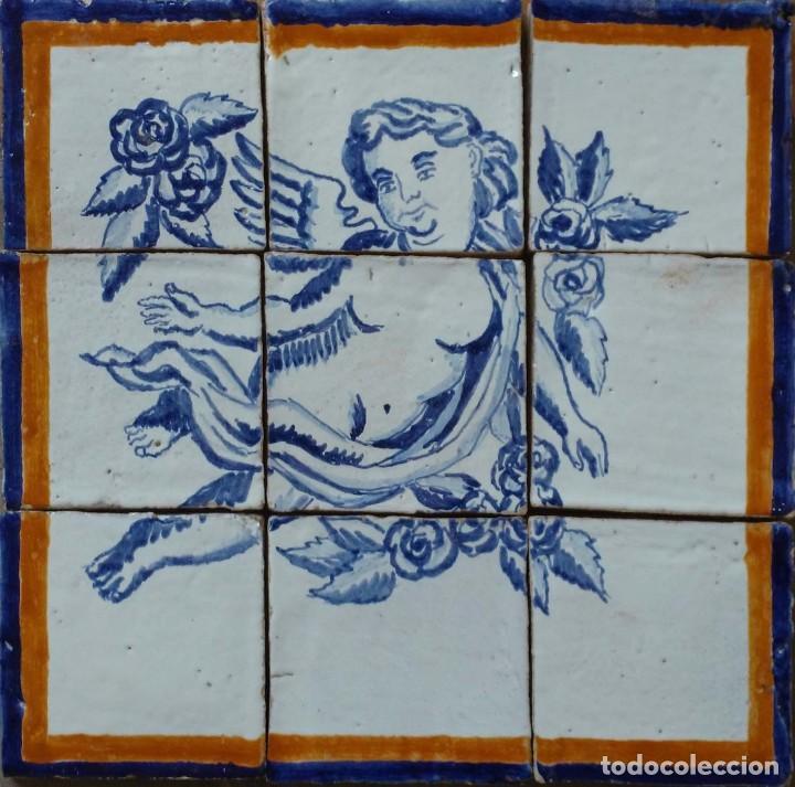 PAREJA ANGELOTES (Antigüedades - Porcelanas y Cerámicas - Azulejos)