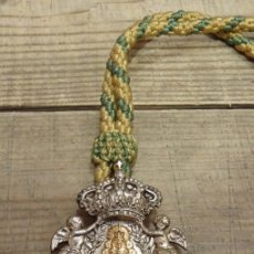 Antigüedades: MEDALLA CON CORDON DE LA HERMANDAD DEL ROCIO DE LA MACARENA. Lote 168663342