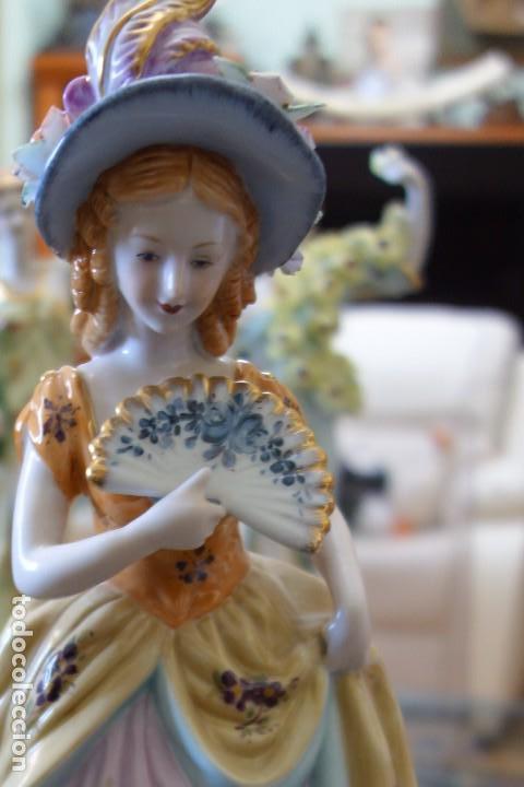 Antigüedades: FIGURA DE PORCELANA ALEMANA MEISSEN DEL SIGLO XX - Foto 2 - 168671940