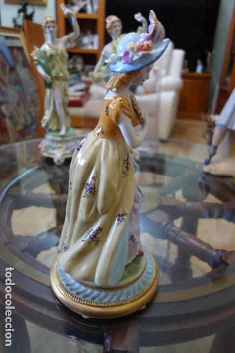 Antigüedades: FIGURA DE PORCELANA ALEMANA MEISSEN DEL SIGLO XX - Foto 3 - 168671940