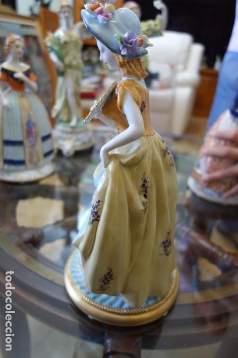 Antigüedades: FIGURA DE PORCELANA ALEMANA MEISSEN DEL SIGLO XX - Foto 5 - 168671940