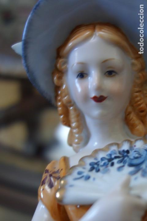 Antigüedades: FIGURA DE PORCELANA ALEMANA MEISSEN DEL SIGLO XX - Foto 7 - 168671940