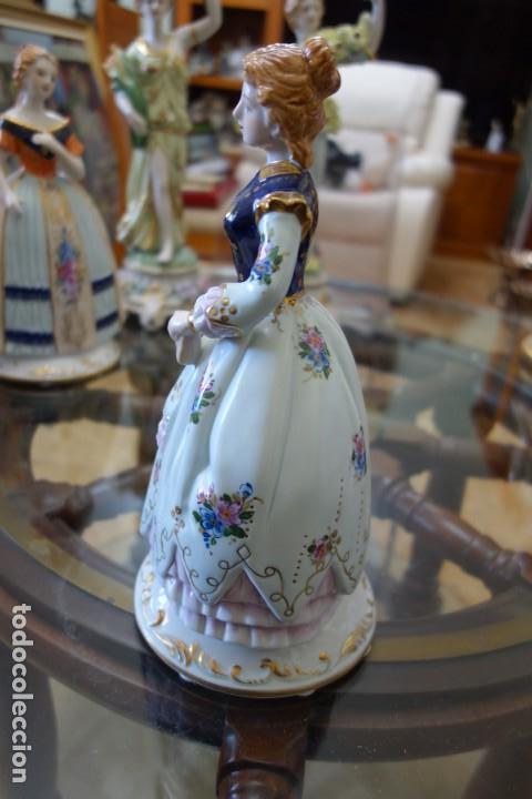 Antigüedades: FIGURA DE PORCELANA ALEMANA MEISSEN DEL SIGLO XX - Foto 4 - 168672064