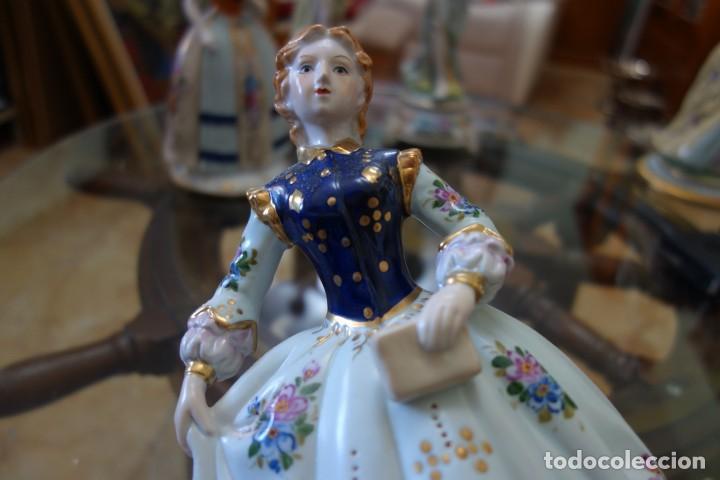 Antigüedades: FIGURA DE PORCELANA ALEMANA MEISSEN DEL SIGLO XX - Foto 5 - 168672064