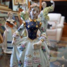 Antigüedades: FIGURA DE PORCELANA ALEMANA MEISSEN DEL SIGLO XX. Lote 168672064