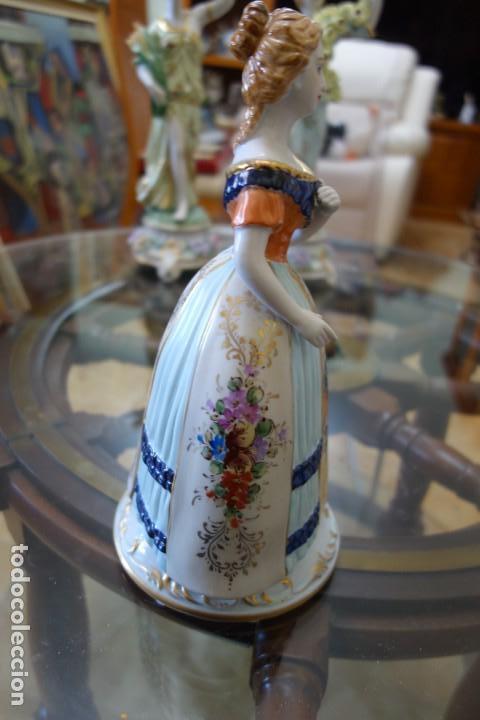 Antigüedades: FIGURA DE PORCELANA ALEMANA MEISSEN DEL SIGLO XX - Foto 2 - 168672216