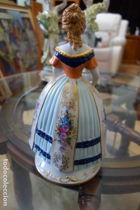 Antigüedades: FIGURA DE PORCELANA ALEMANA MEISSEN DEL SIGLO XX - Foto 3 - 168672216