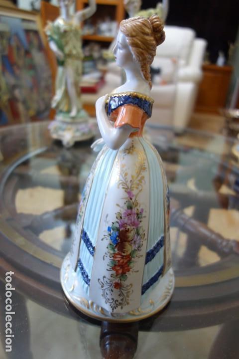 Antigüedades: FIGURA DE PORCELANA ALEMANA MEISSEN DEL SIGLO XX - Foto 4 - 168672216