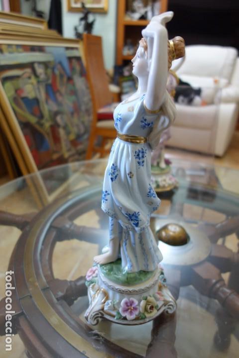 Antigüedades: FIGURA DE PORCELANA ALEMANA MEISSEN DEL SIGLO XX - Foto 4 - 168672828