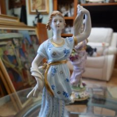 Antigüedades: FIGURA DE PORCELANA ALEMANA MEISSEN DEL SIGLO XX. Lote 168672828