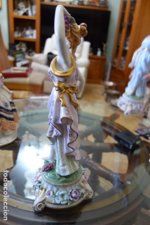 Antigüedades: FIGURA DE PORCELANA ALEMANA MEISSEN DEL SIGLO XX - Foto 4 - 168672912