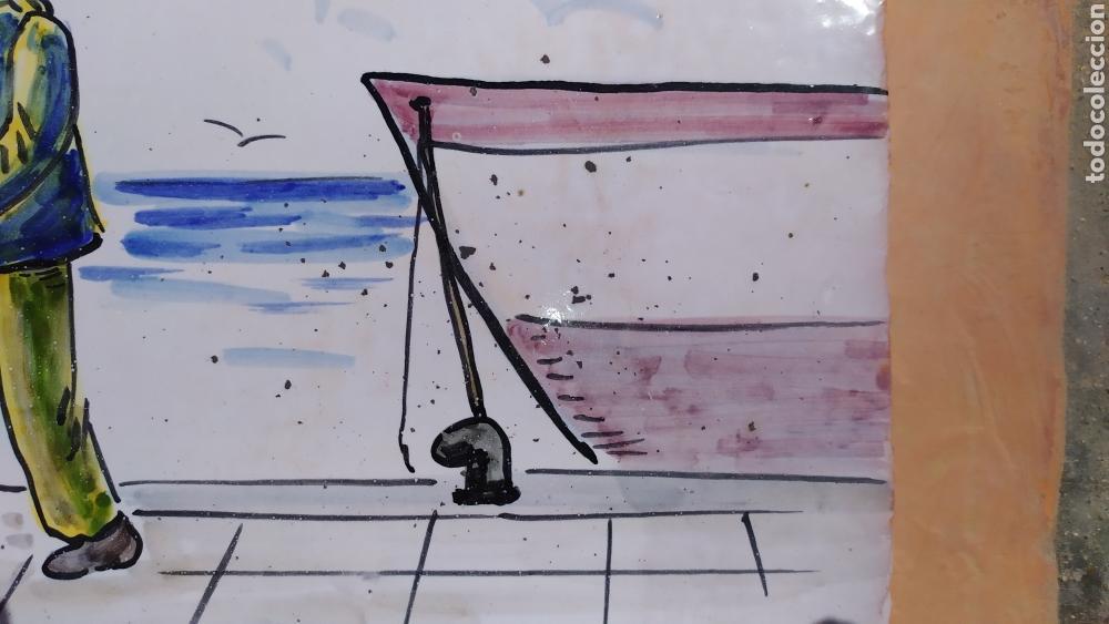 Antigüedades: Azulejo pescador 20 x 29 cm. - Foto 2 - 168676570