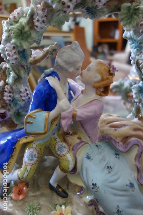 Antigüedades: FIGURA DE PORCELANA ALEMANA DEL SIGLO XIX - Foto 2 - 168678892