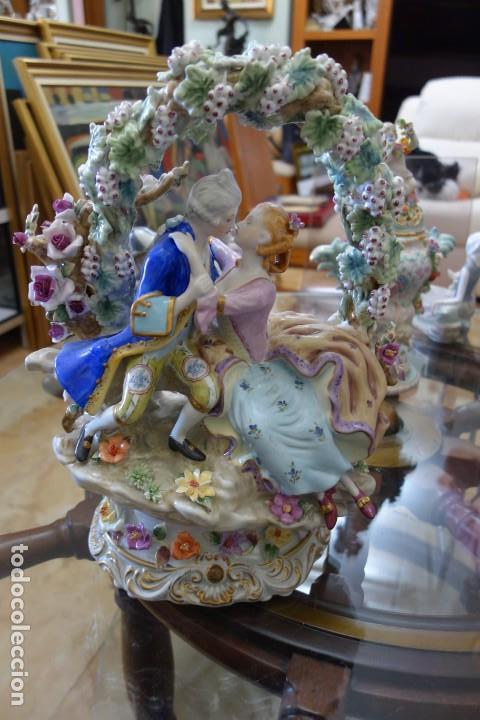 FIGURA DE PORCELANA ALEMANA DEL SIGLO XIX (Antigüedades - Porcelana y Cerámica - Alemana - Meissen)