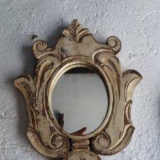 Antigüedades: MARCO DE MADERA RÚSTICO TALLADO. Lote 168688506