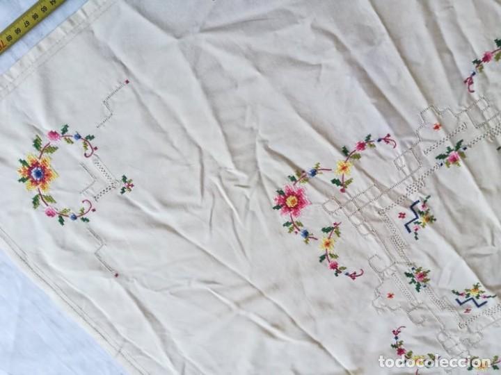Antigüedades: mantel mesa flores - Foto 2 - 234930125