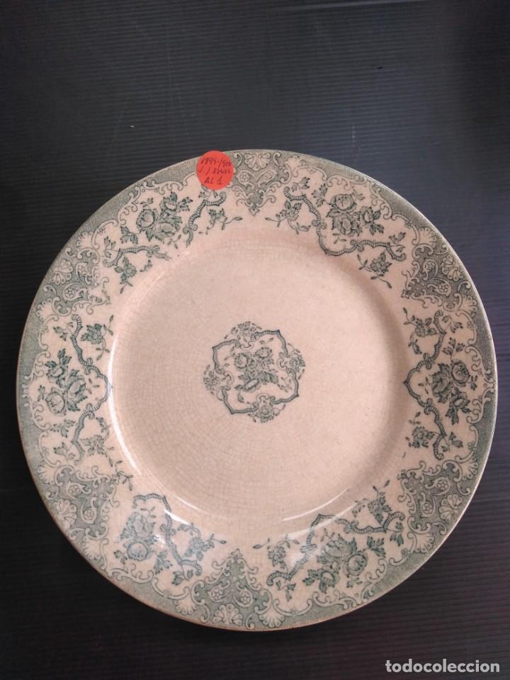 PLATO SÍGLO XIX, SAN JUAN DE AZNALFARACHE (Antigüedades - Porcelanas y Cerámicas - San Juan de Aznalfarache)