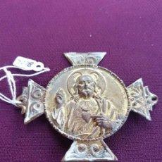 Antigüedades: PLACA PARA PUERTA SAGRADO CORAZON DE JESUS. Lote 168709836