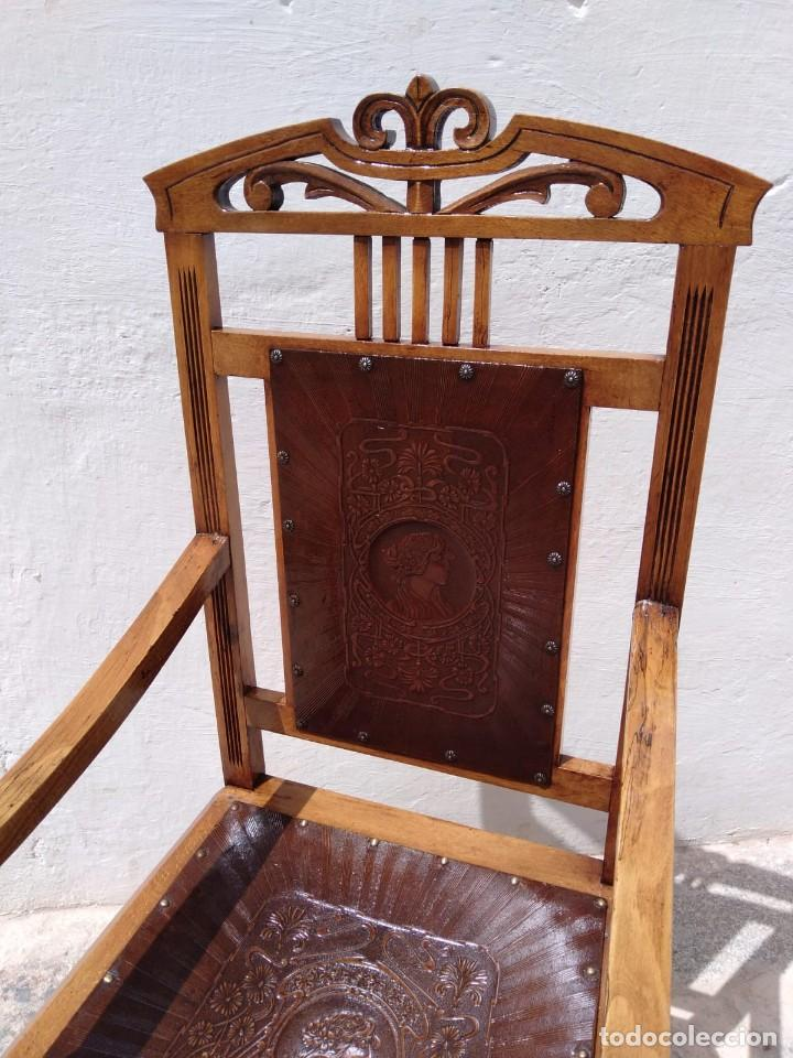 Antigüedades: Antigüo sillón trono - Foto 4 - 168712948
