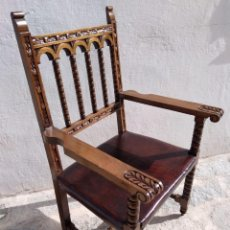 Sillon frailero butaca madera polipiel vendido en venta - Cuanto cuesta tapizar una butaca ...