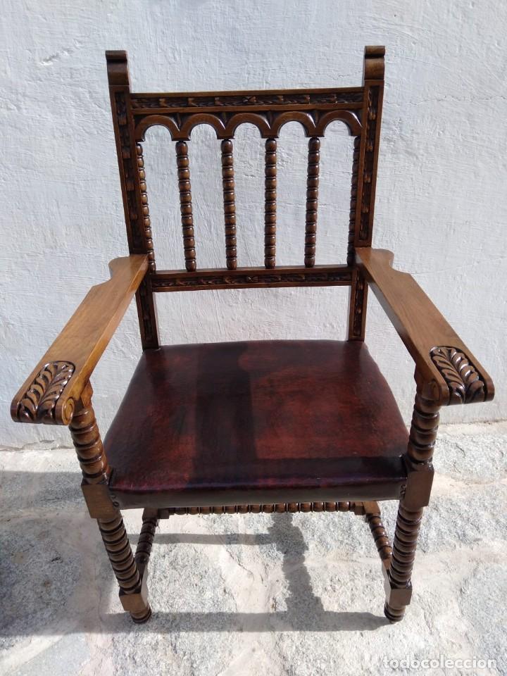 Antigüedades: Antigüo sillón Frailero - Foto 2 - 168721596