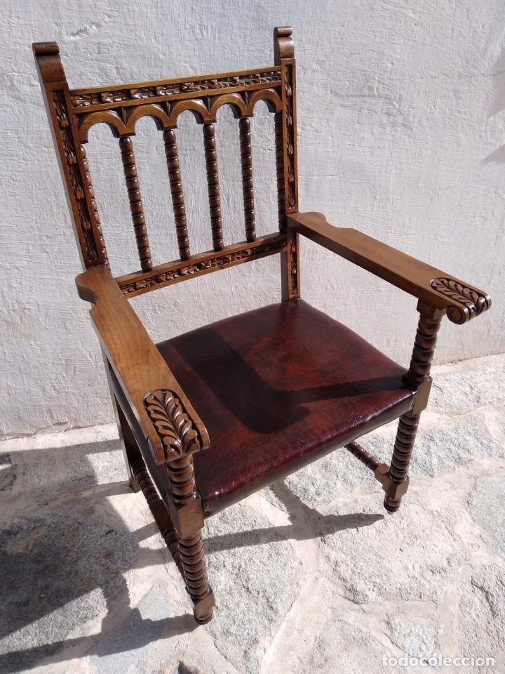 Antigüedades: Antigüo sillón Frailero - Foto 4 - 168721596
