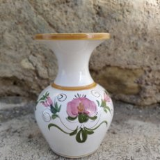 Antigüedades: JARRÓN CON FLORES. Lote 168732082
