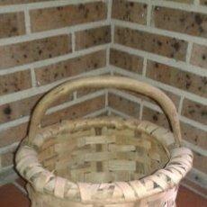 Antigüedades: CESTO DE CASTAÑO. Lote 168762685
