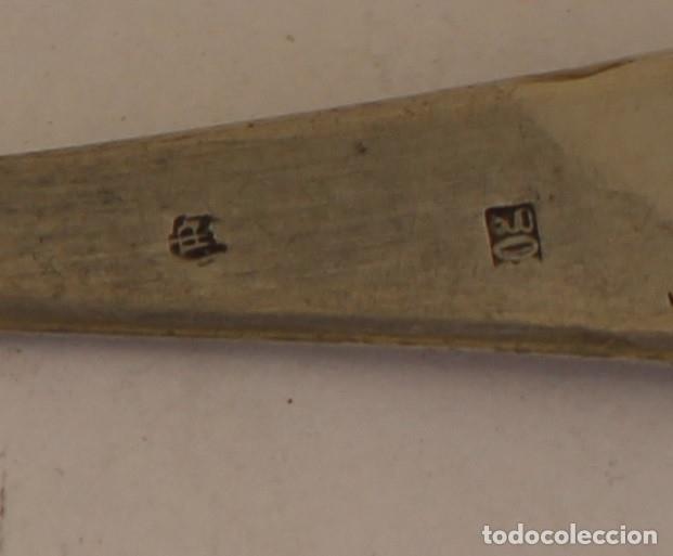 Antigüedades: tenedor con plata de ley punzonada - Foto 6 - 168765249