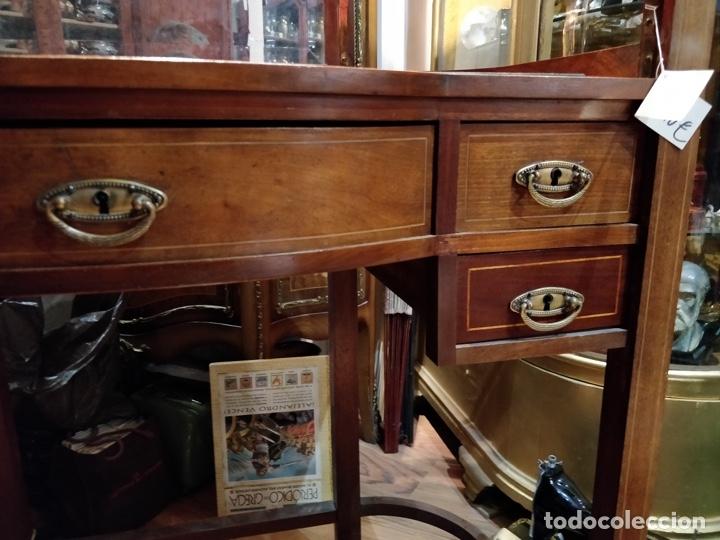 Antigüedades: Antigua coqueta tocador estilo art deco, con espejo y cuatro cajones-Alto 195 ancho 95 fondo 50cm - Foto 10 - 133246358
