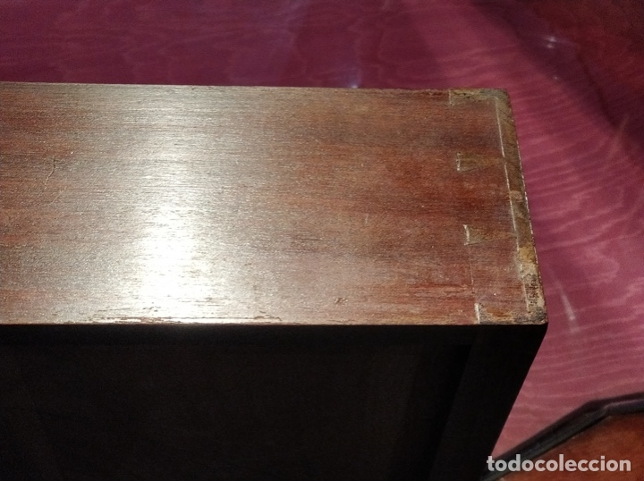 Antigüedades: Antigua coqueta tocador estilo art deco, con espejo y cuatro cajones-Alto 195 ancho 95 fondo 50cm - Foto 15 - 133246358