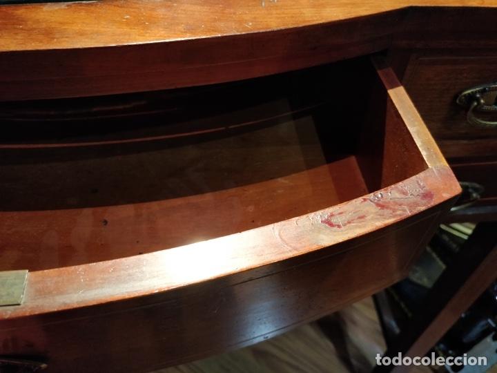 Antigüedades: Antigua coqueta tocador estilo art deco, con espejo y cuatro cajones-Alto 195 ancho 95 fondo 50cm - Foto 20 - 133246358