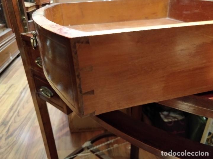 Antigüedades: Antigua coqueta tocador estilo art deco, con espejo y cuatro cajones-Alto 195 ancho 95 fondo 50cm - Foto 21 - 133246358