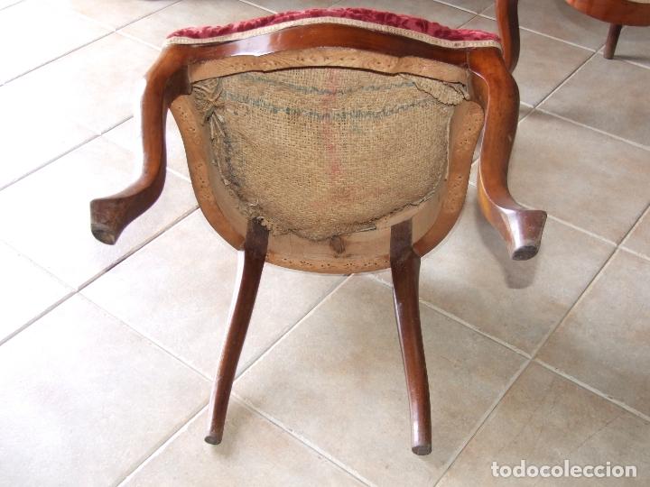 Antigüedades: 4 SILLAS ISABELINAS DE CAOBA - Foto 9 - 168800660