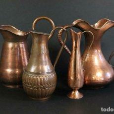 Antigüedades: 4 IMPRESIONANTES Y PRECIOSAS JARRAS DEL SIGLO XIX PP. SIGLO XX EN COBRE 350,00 €. Lote 168837320