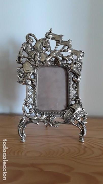 Antigüedades: Marco sobremesa, bronce - Foto 2 - 168843920