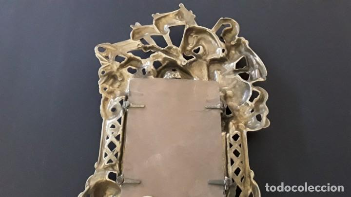 Antigüedades: Marco sobremesa, bronce - Foto 5 - 168843920