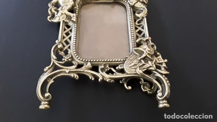Antigüedades: Marco sobremesa, bronce - Foto 8 - 168843920