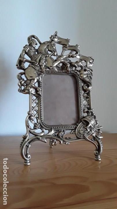 Antigüedades: Marco sobremesa, bronce - Foto 9 - 168843920