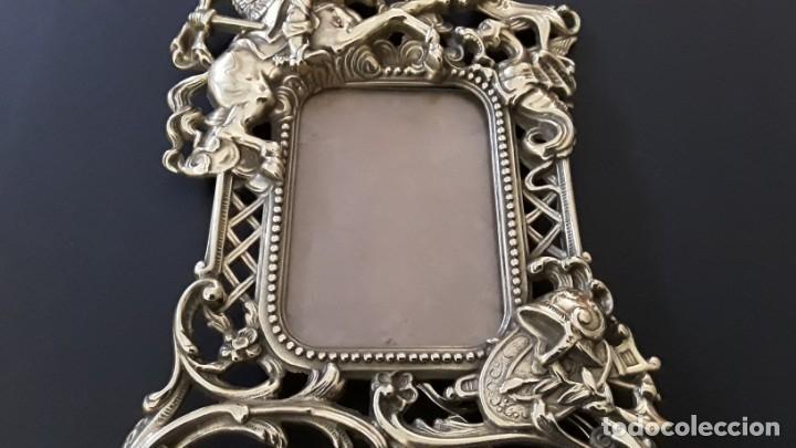 Antigüedades: Marco sobremesa, bronce - Foto 10 - 168843920