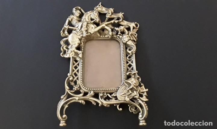 Antigüedades: Marco sobremesa, bronce - Foto 11 - 168843920