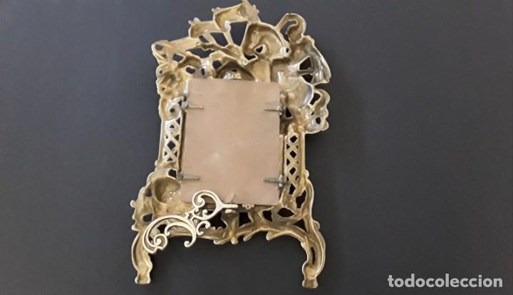 Antigüedades: Marco sobremesa, bronce - Foto 12 - 168843920