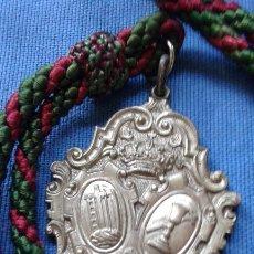 Antigüedades: SEMANA SANTA HUELVA - MEDALLA CON CORDON DE LA HERMANDAD DE LA VERA CRUZ. Lote 168847824