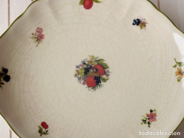 Antigüedades: Lote de 2 bandejas de Porcelana Decoradas de San Claudio - Asturias - España - Foto 6 - 168853092