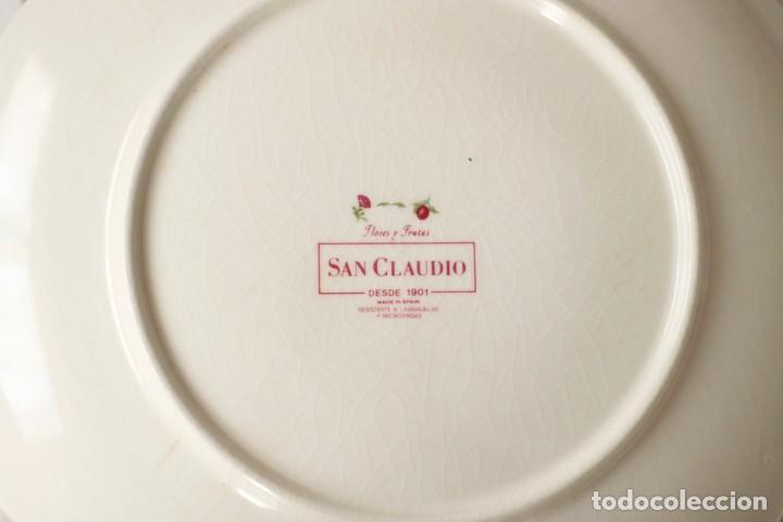 Antigüedades: Lote de 2 bandejas de Porcelana Decoradas de San Claudio - Asturias - España - Foto 8 - 168853092