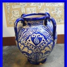 Antigüedades: VASIJA ORZA JARRON DE CERAMICA DE TALAVERA FIRMADA ESPA. Lote 168857960