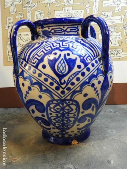 Antigüedades: VASIJA ORZA JARRON DE CERAMICA DE TALAVERA FIRMADA ESPA - Foto 7 - 168857960