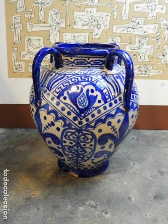 Antigüedades: VASIJA ORZA JARRON DE CERAMICA DE TALAVERA FIRMADA ESPA - Foto 2 - 168857960