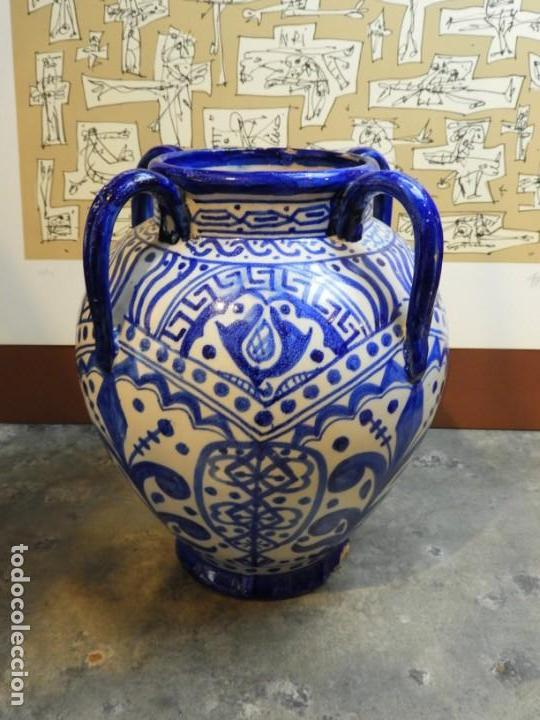 Antigüedades: VASIJA ORZA JARRON DE CERAMICA DE TALAVERA FIRMADA ESPA - Foto 3 - 168857960